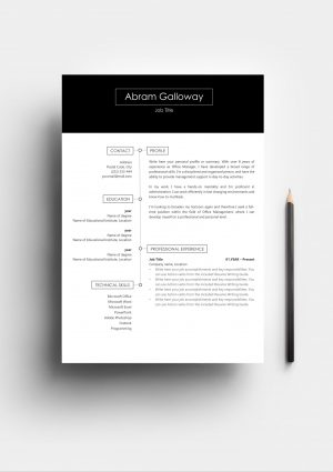 powerful Resume Template