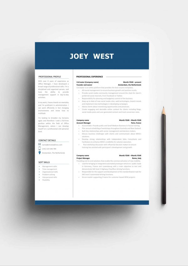Clear Resume Template