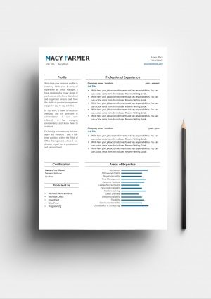 Compact Resume Template