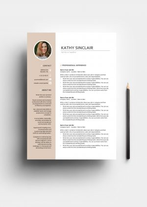 A Sophisticated Resume Template