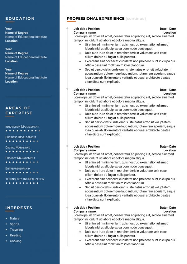 modish resume template