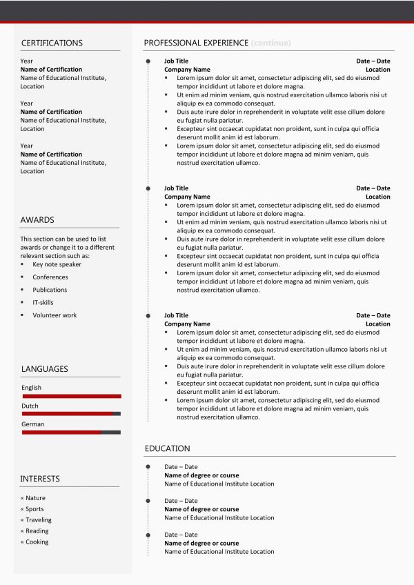 Outstanding Resume Remplate