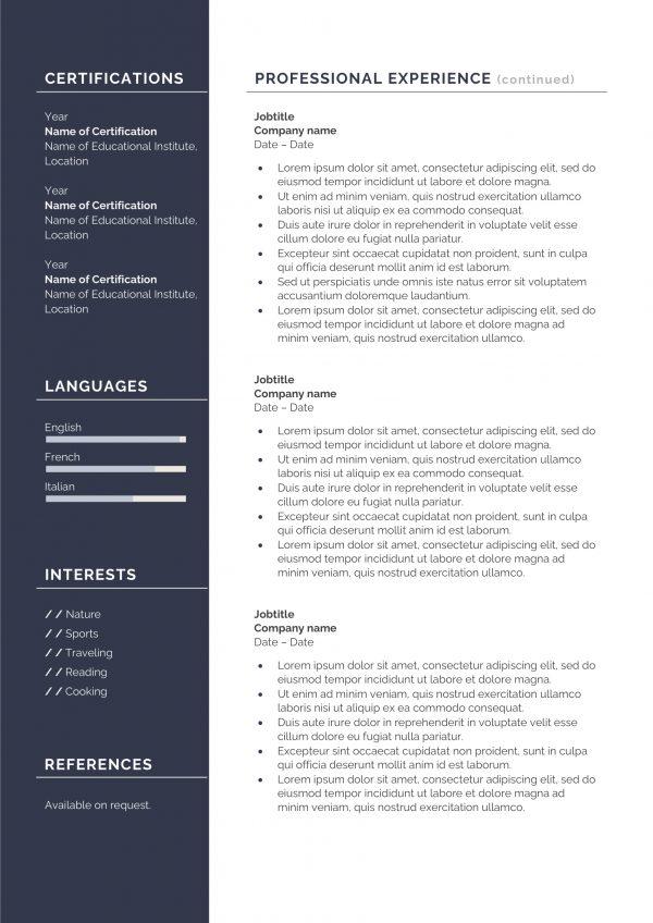 Trending resume template