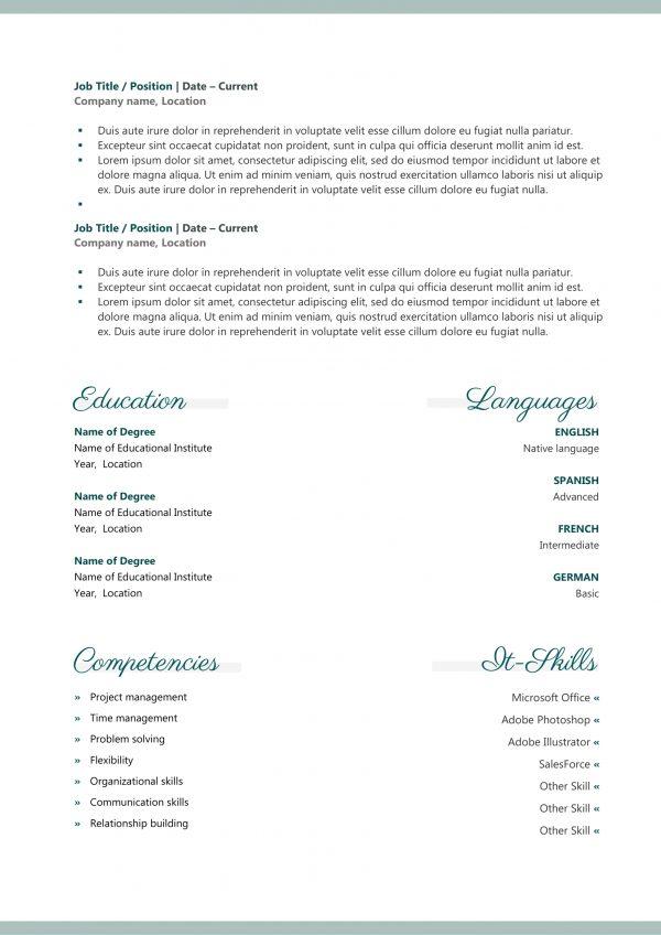 Pretty Resume Template